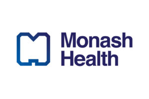 The full colour Monash Health logo correctly appears on a white background.
